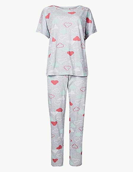 Cotton Rich Cloud Print Pyjama Set