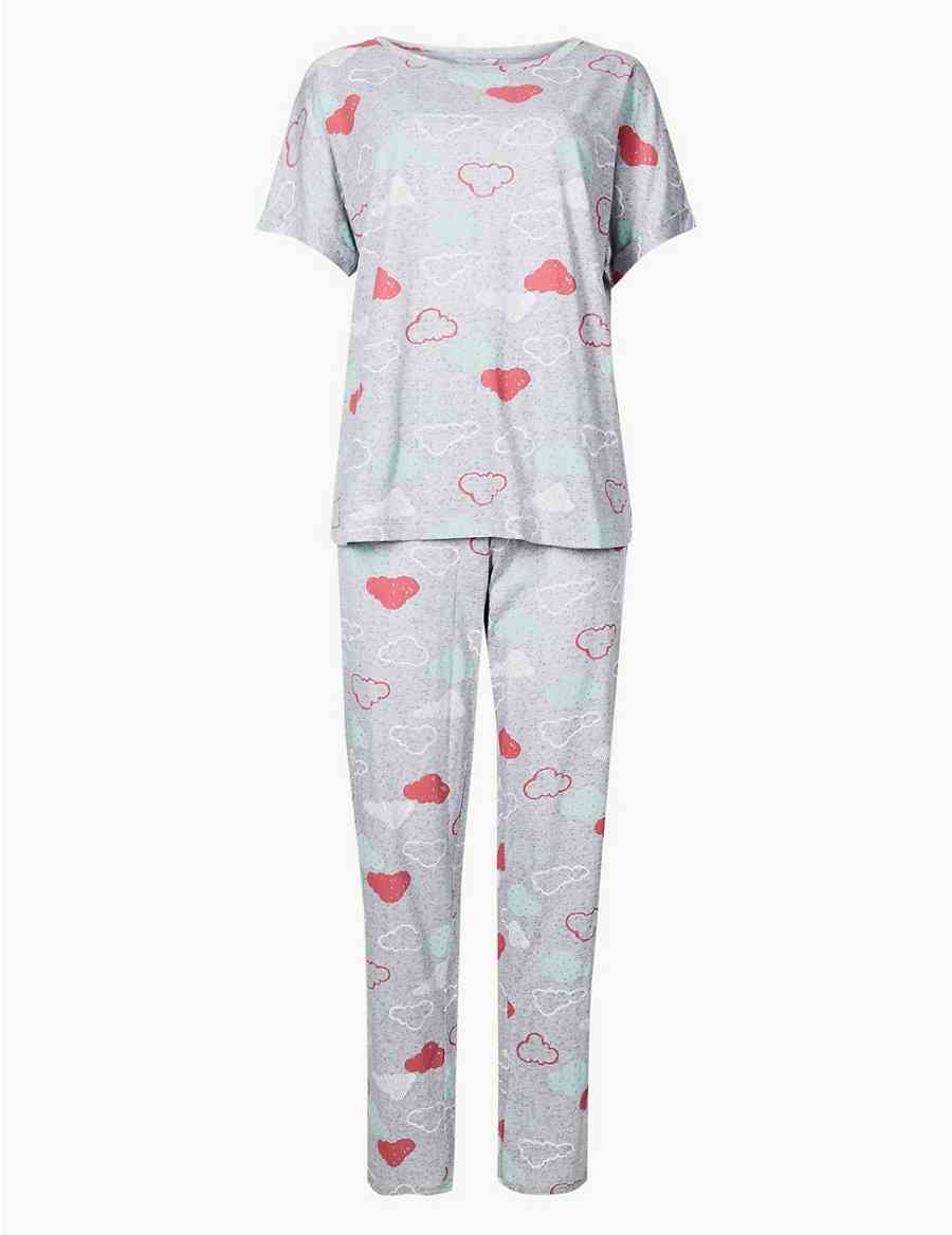 aecdaca4b9 Cotton Rich Cloud Print Pyjama Set