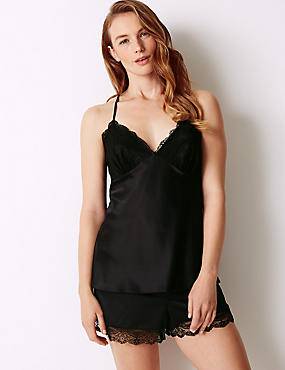 Satin Strappy Camisole Set