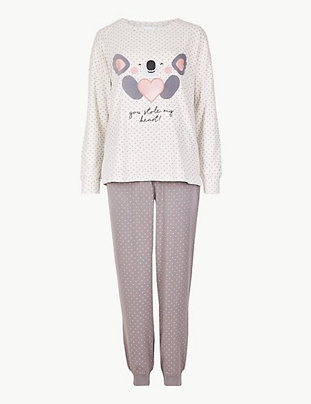 Cotton Rich Koala Long Sleeve Pyjama Set