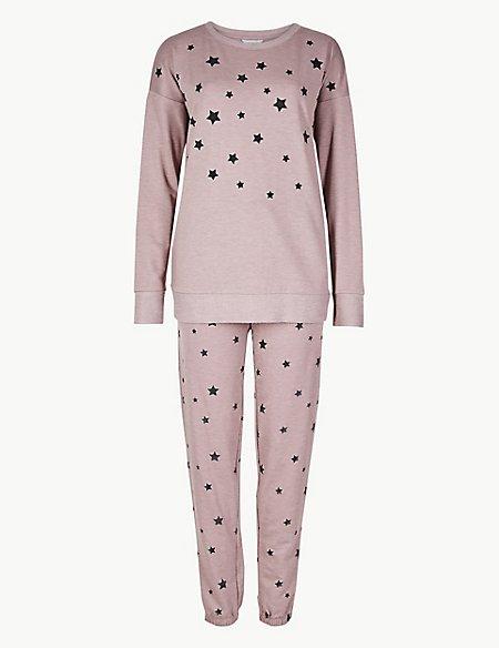 Star Print Long Sleeve Pyjama Set
