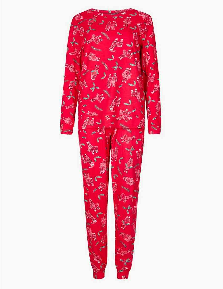 Cotton Rich Llama Print Pyjama Set  c43e9cd6a