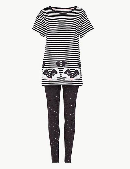 Cotton Rich Racoon Striped Pyjama Set