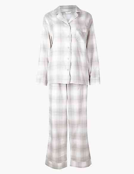 Checked Long Sleeve Pyjama Set