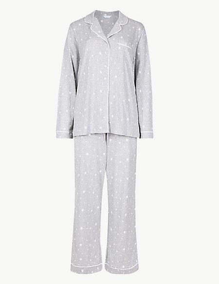 Modal Blend Star Print Pyjama Set