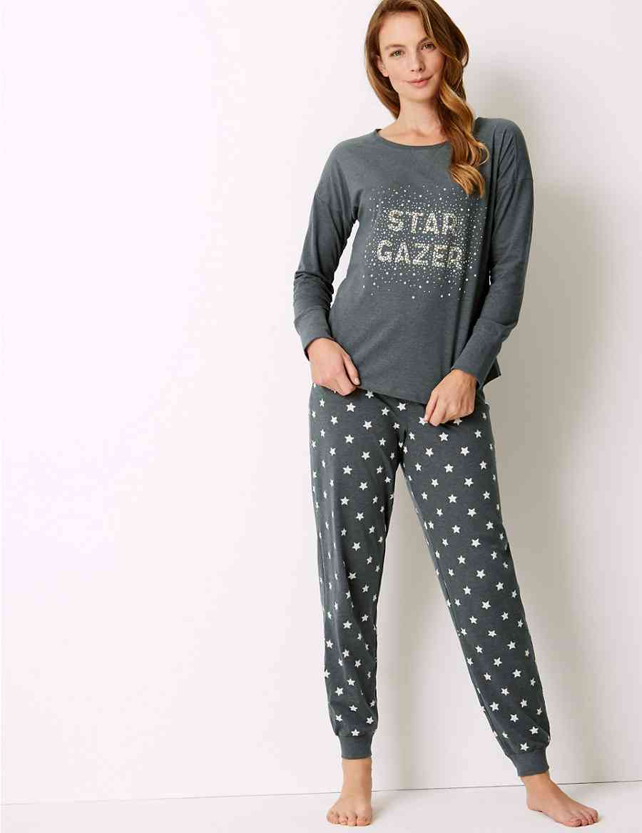 Cotton Rich Star Print Pyjama Set  0991b5473