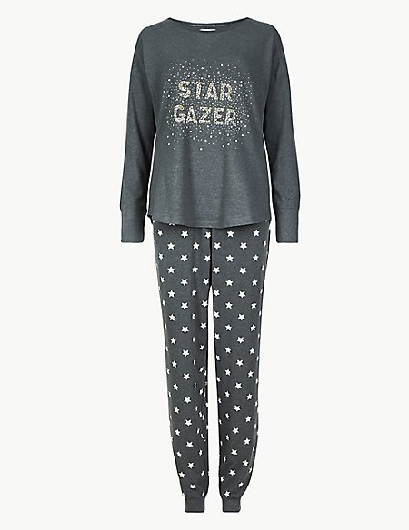 Cotton Rich Star Print Pyjama Set