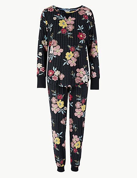 Cotton Rich Floral Print Pyjama Set