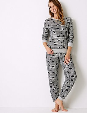 c317a13fa2b7 Star Print Long Sleeve Pyjama Set