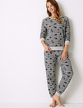 Star Print Long Sleeve Pyjama Set