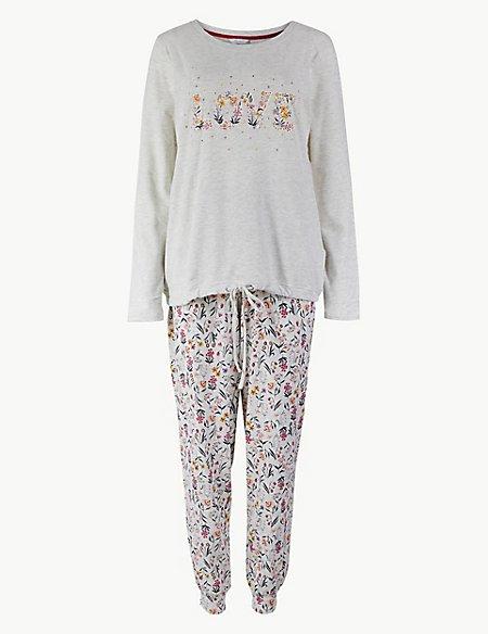 Cotton Rich Printed Pyjama Set