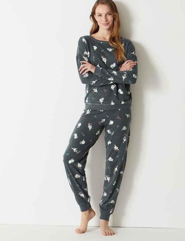 Cuffed Hem Cat Pyjama Set 0a89f7b5c