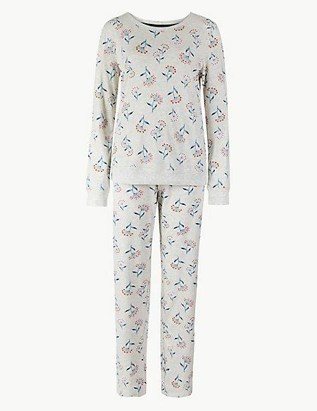 Cotton Rich Dandelion Print Pyjama set