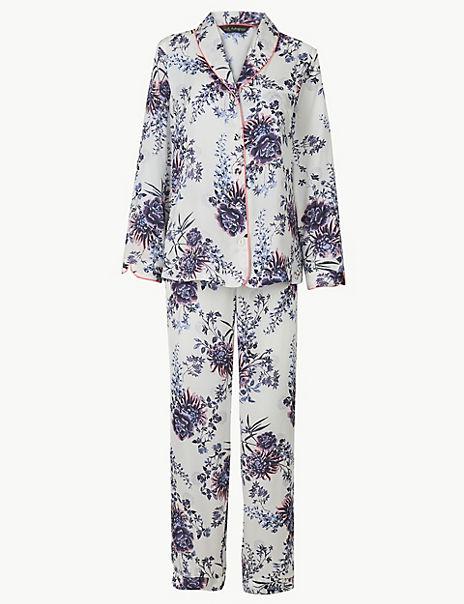 Floral Revere Collar Pyjama Set