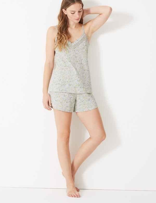bee8959ebb3 Strappy Camisole Short Pyjama Set