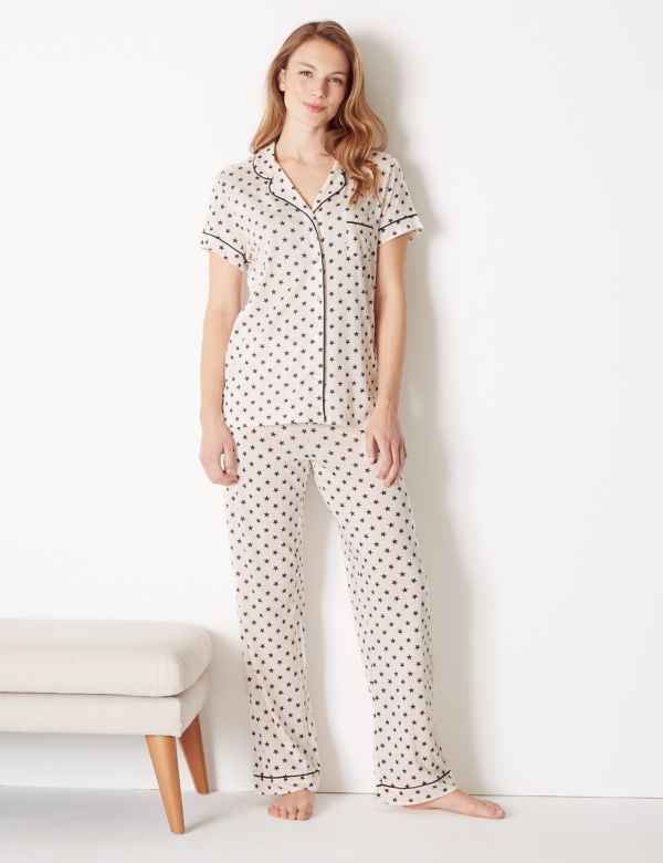 0173bef45a28 Cool Comfort™ Cotton Modal Star Pyjama Set