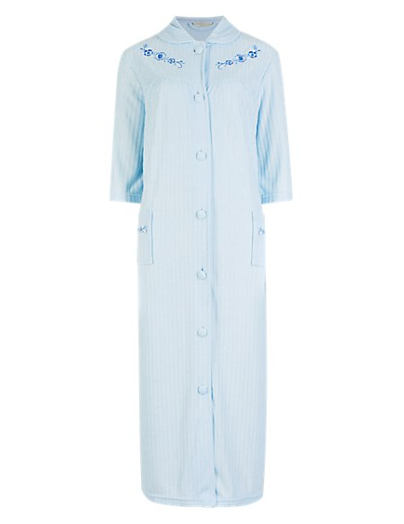 Floral Embroidered Towelling Dressing Gown | A Beautiful Night | M&S