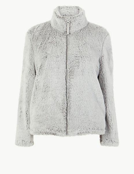 Fleece Long Pile Zip-Up Snuggle Top