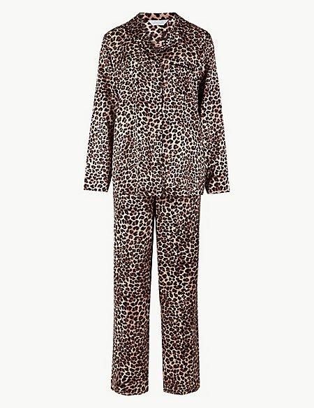 Animal Print Long Sleeve Pyjama Set