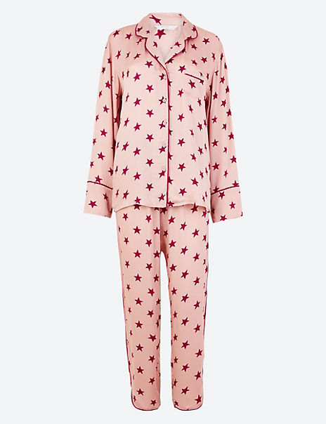Sateen Star Print Pyjama Set