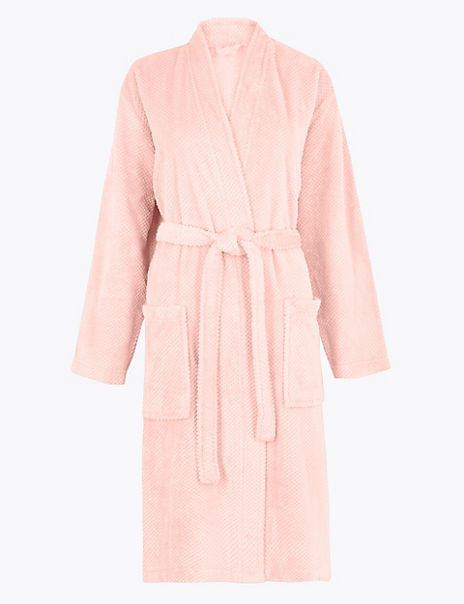 Textured Fleece Dressing Gown