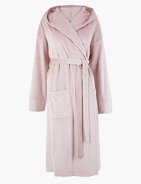 Island Fleece Hooded Dressing Gown