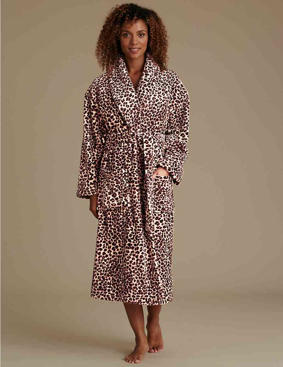 e08590684d Leopard Print Dressing Gown with Belt