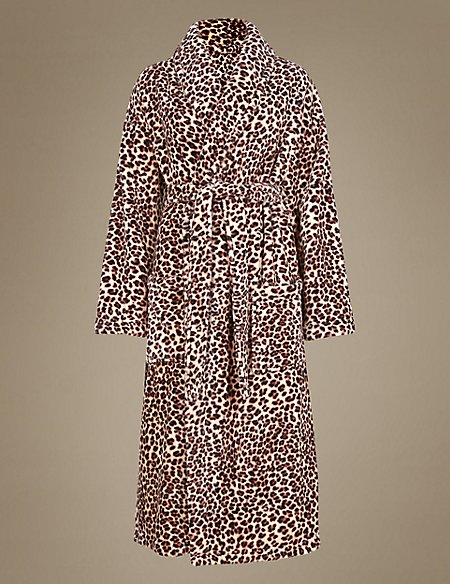 Leopard Print Dressing Gown with Belt | M&S Collection | M&S