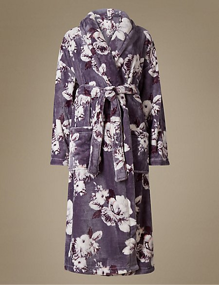 Shimmersoft™ Floral Print Dressing Gown