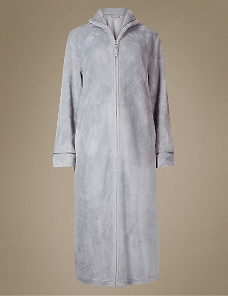 Shimmersoft™ Zipped Through Dressing Gown | M&S Collection | M&S