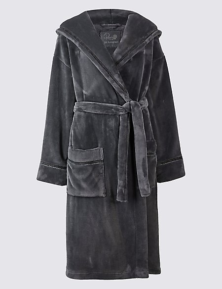 Tie Front Shimmer Dressing Gown