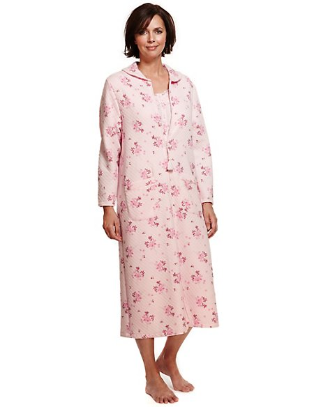 Floral Quilted Dressing Gown | Classic | M&S