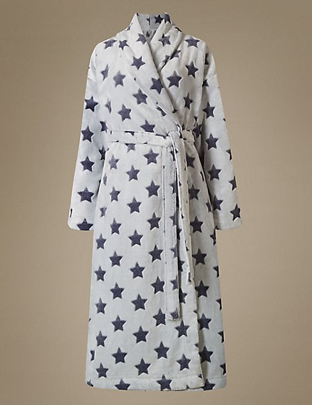 Star Print Dressing Gown | M&S Collection | M&S