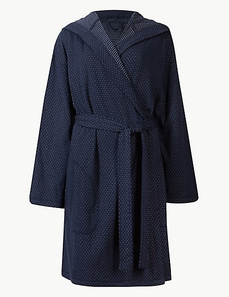 Double Sided Hooded Dressing Gown