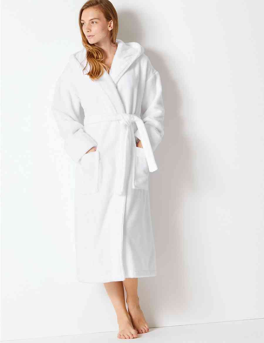 d1611b2502 Pure Cotton Towelling Dressing Gown