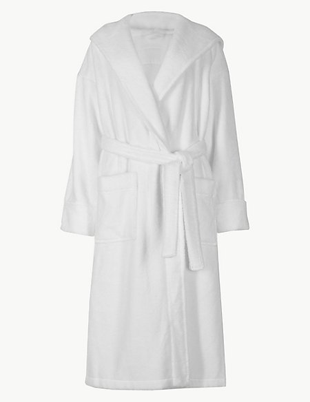 Pure Cotton Towelling Dressing Gown | Autograph | M&S