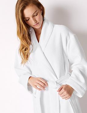 6892159d1c2 Robe de chambre en modal à motif gaufré ...