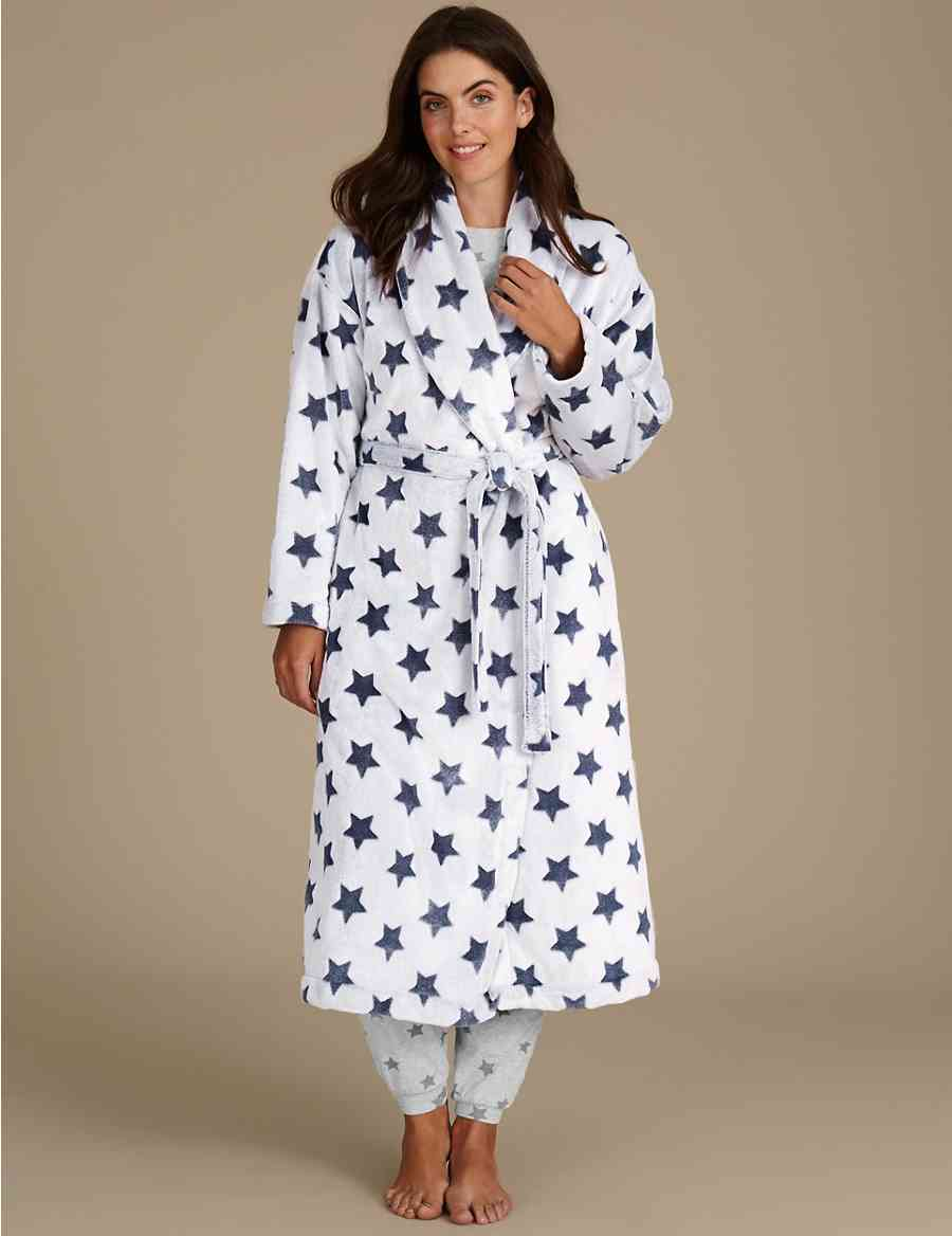 d6832461c5 Shimmersoft trade  Star Print Dressing Gown