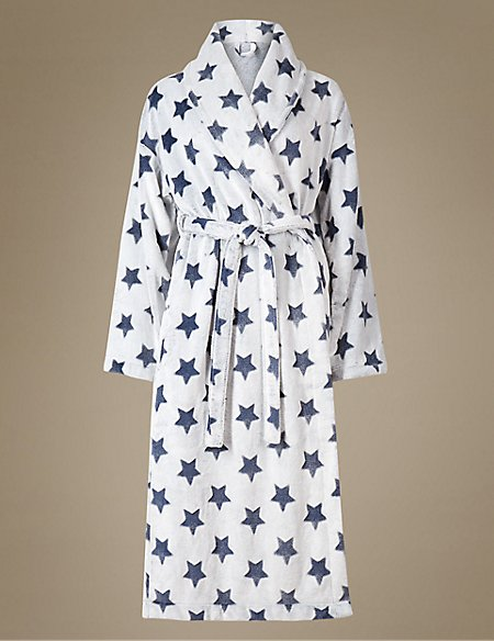 Shimmersoft™ Star Print Dressing Gown | M&S Collection | M&S