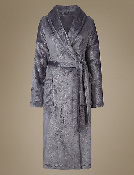 Shimmersoft™ Sparkle Dressing Gown   M&S Collection   M&S
