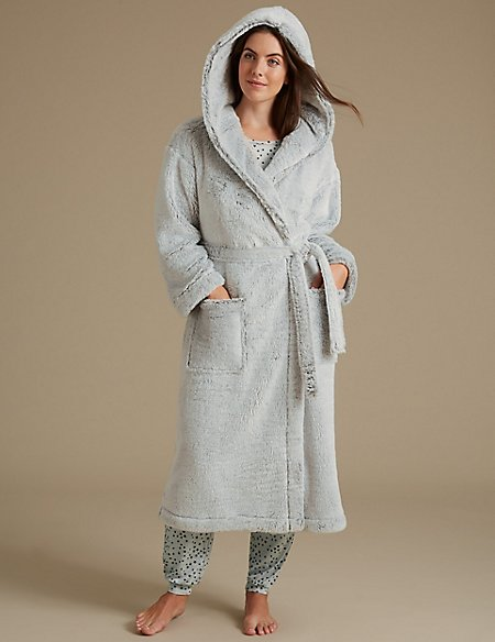 Shimmersoft™ Hooded Dressing Gown | M&S Collection | M&S