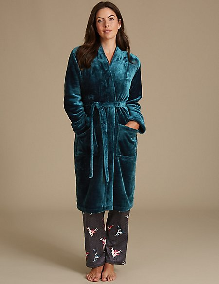 Shimmersoft™ Tie Front Dressing Gown | M&S Collection | M&S