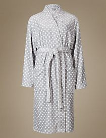 Shimmersoft™ Spotted Dressing Gown