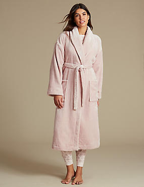 Shimmersoft™ Tie Front Dressing Gown, SOFT PINK, catlanding