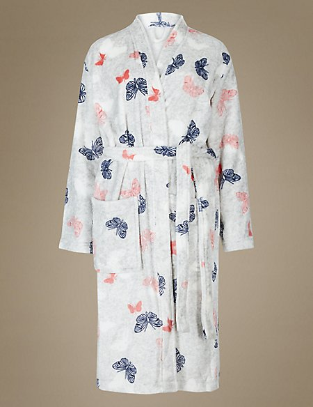 Shimmersoft™ Butterfly Print Dressing Gown | M&S Collection | M&S