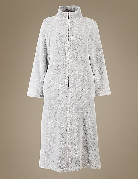 Zipped Dressing Gown | M&S Collection | M&S