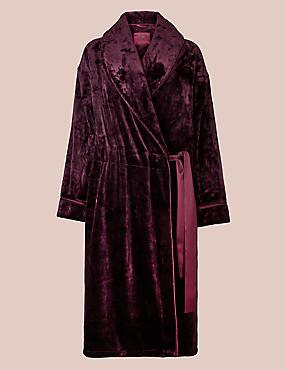 Fleece Long Sleeve Dressing Gown