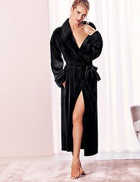 Luxury Velvet Touch Fleece Dressing Gown