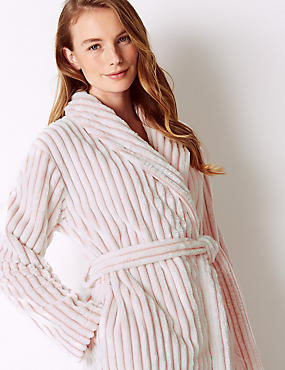 Supersoft Textured Short Dressing Gown