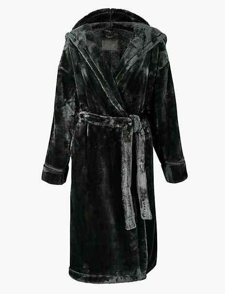 Luxury Fleece Hooded Dressing Gown